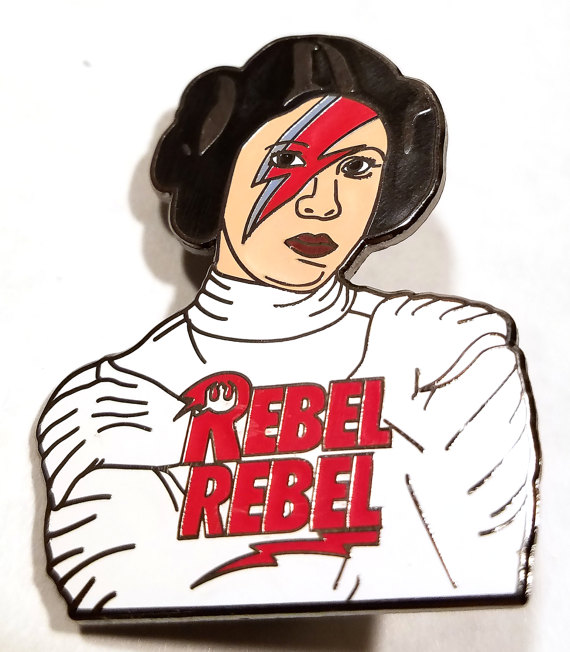 REBEL REBEL PRINCESS ENAMEL PIN $8.00