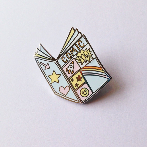 COMIC BOOK ENAMEL PIN $8.88