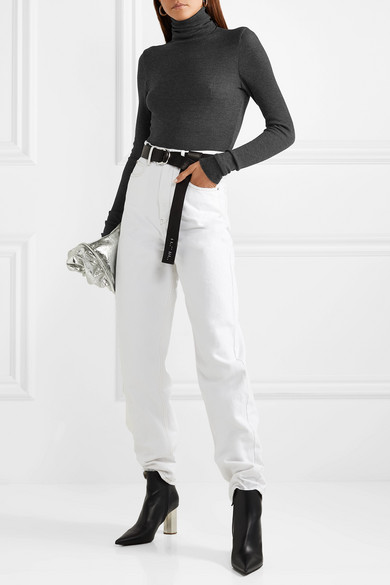 THE RANGE Waffle-knit turtleneck top