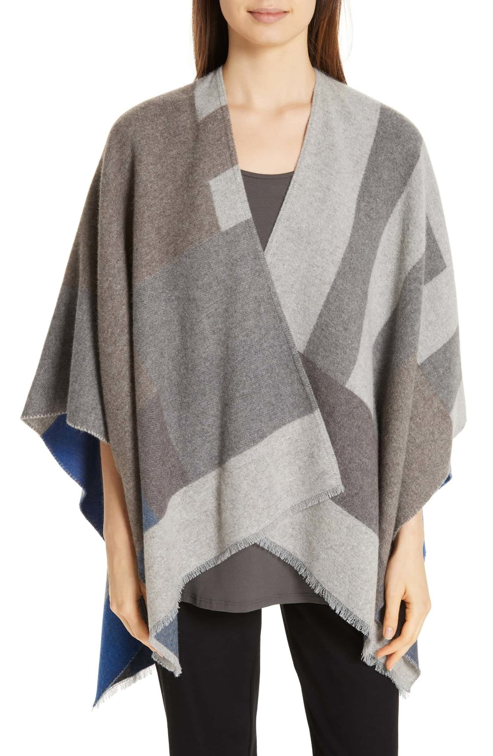 Reversible Poncho EILEEN FISHER