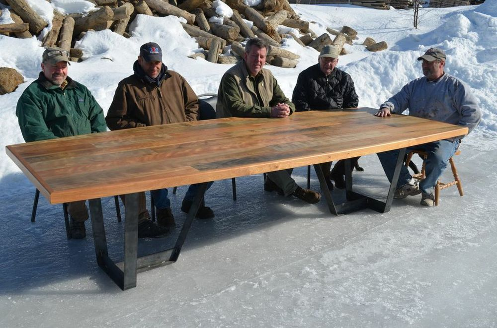 Board meeting, Maine Heritage Timber style