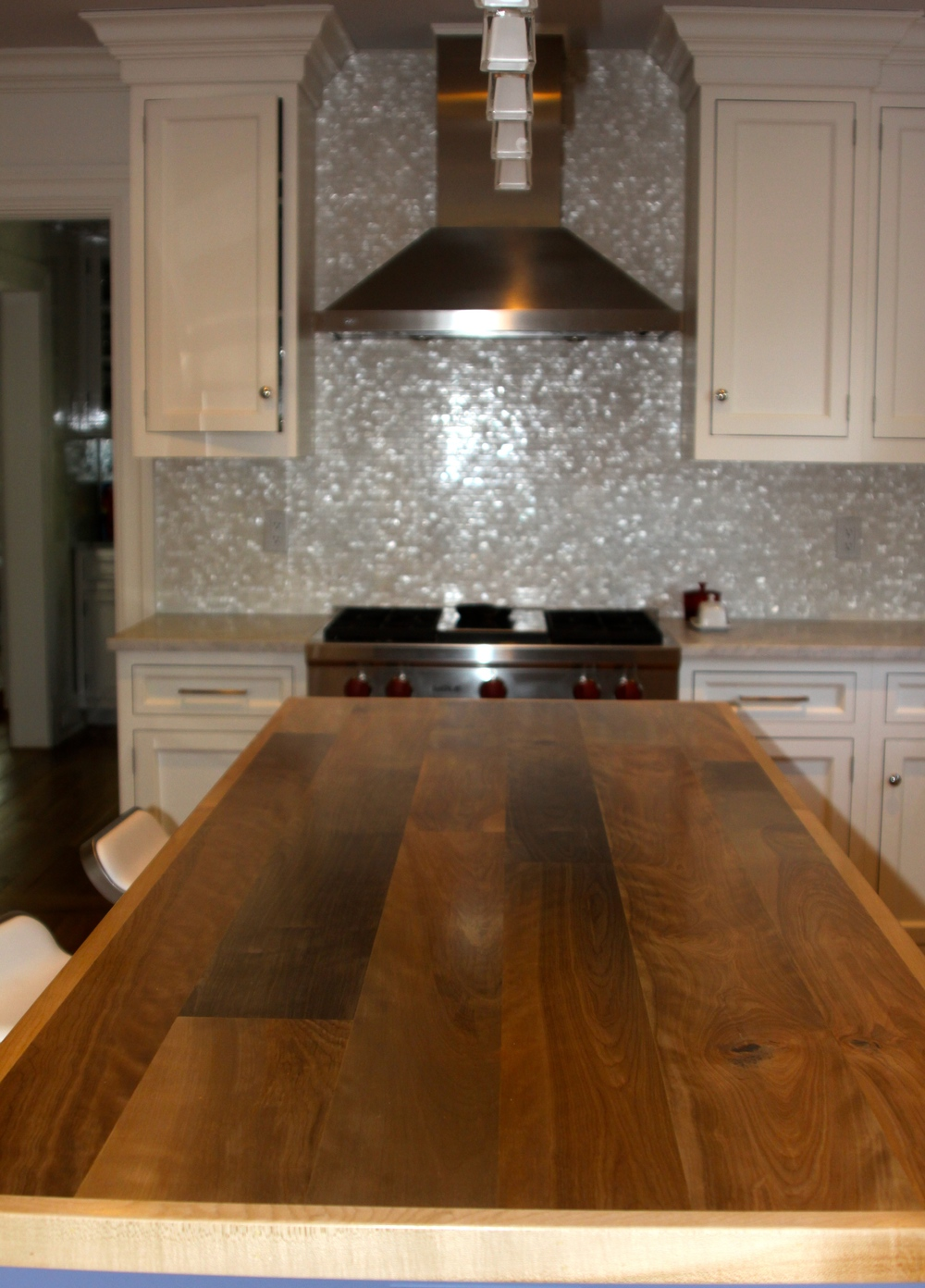 Custom birch island countertop