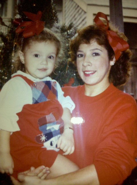 IT WAS THE 80'S AND MATCHING WAS COOL, OK?!?! AND IT WAS CHRISTMAS.