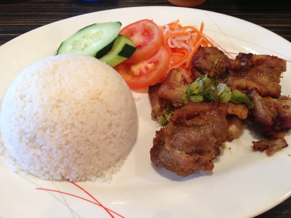 Grilled lemongrass chicken