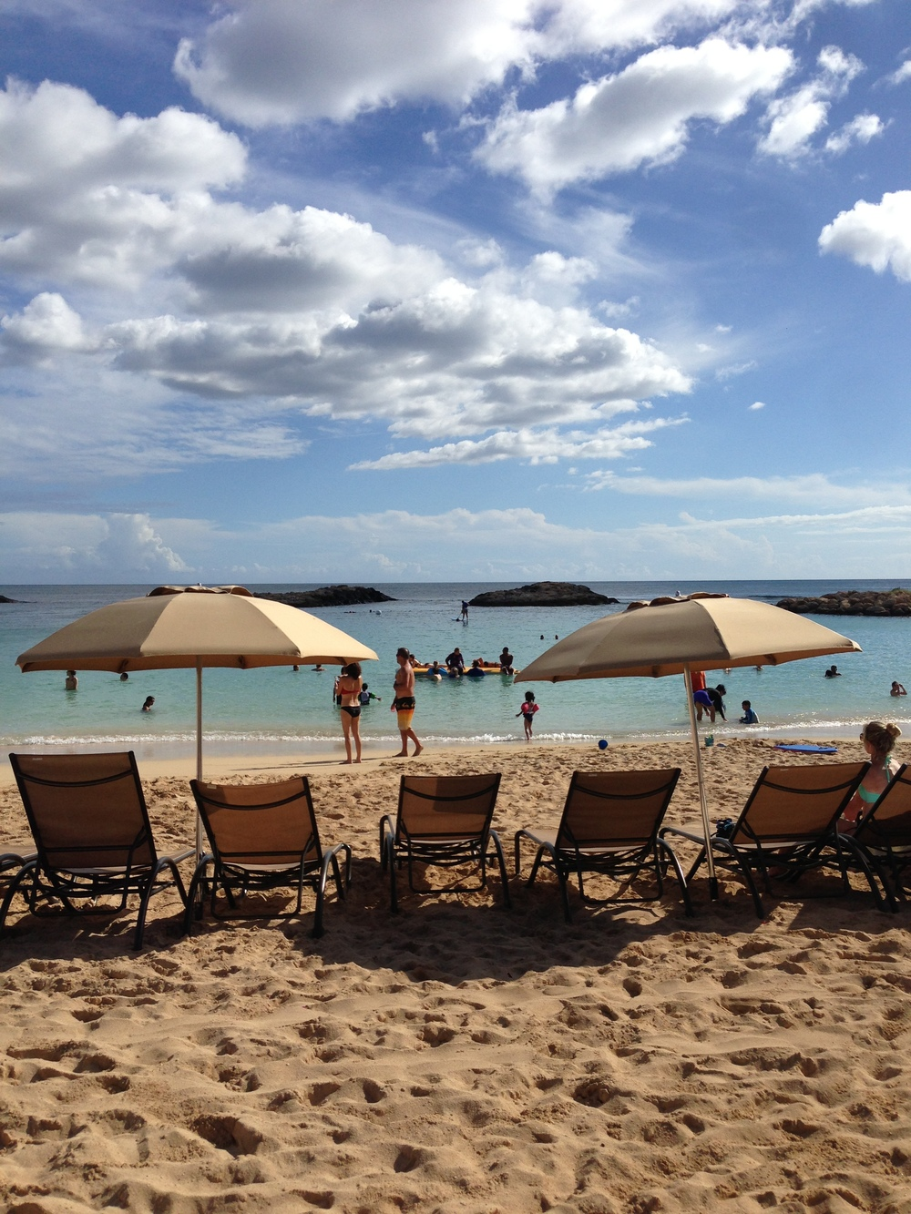 Ko Olina lagoon. Where relaxation itself comes to relax.