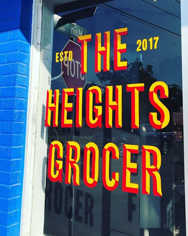 Local spots like this make us so happy! Be sure to check out @theheightsgrocer for a really well curated selection of sips and treats! #shoplocal #htx #houstonheights #naturalwine