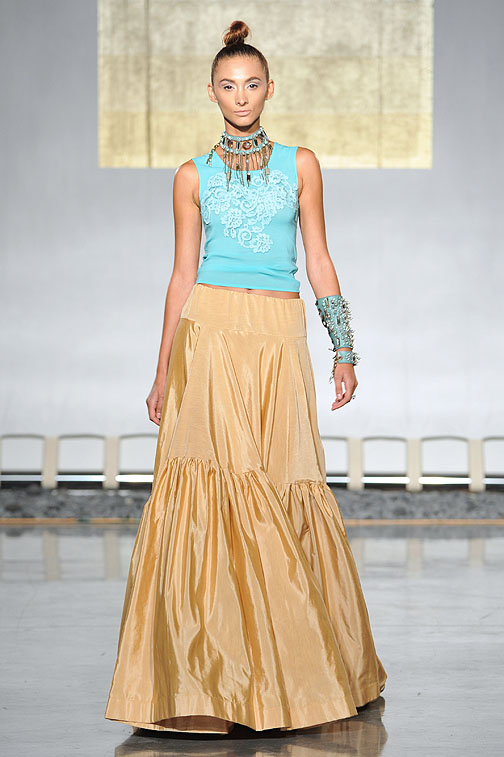 House of Cach Jewelry at the Jonathan Joseph Peters runway show at Styleweek Miami.