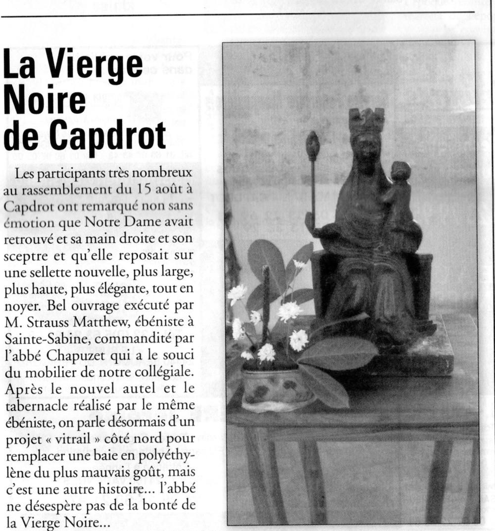 """Publié dans """"l'Echo des Bastides"""" en automne 2013 à Beaumont-du-Périgord.  Published in """"l'Echo des Bastides"""" in the fall 2013 à Beaumont-du-Périgord."""
