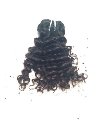 Indian Deep Wavy/Curly Hair  100% Virgin Indian Hair  *Hair comes extremely curly and in its natural state. We suggest co-washing this particular hair before installation.