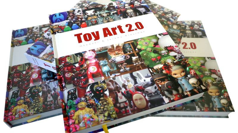 Toy Art 2.0 is a journey into the wild world of contemporary toy art from the fascinating perspectives of artists, collectors, curators, producers, fabricators, retailers, gallery owners, distributors and scholars. Members of the Toy Art 2.0 community wear many hats.  More than 50 interviews and essays and over 150 delicious eye candy photos tell the story of this unique community and addictively accessible art form. Each book weighs over four pounds! - See more at  Toy Art Book 2.0.