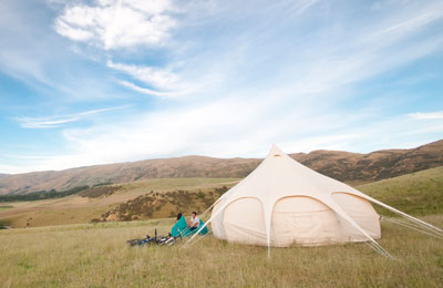 Accommodation on HighCountry Sheep Station - Bed & Breakfast accommodation in Southland with a difference - Glamping sites in Southland and Otago