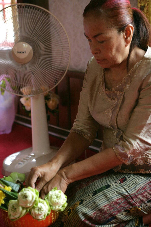 Jame's Mom Nina Prepares Lotus Flowers.jpg