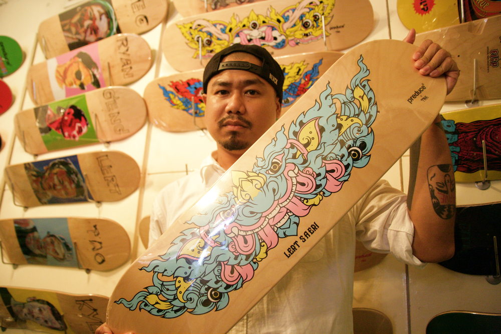 TRK of Preduce Skateboards With His Favorite Design.jpg