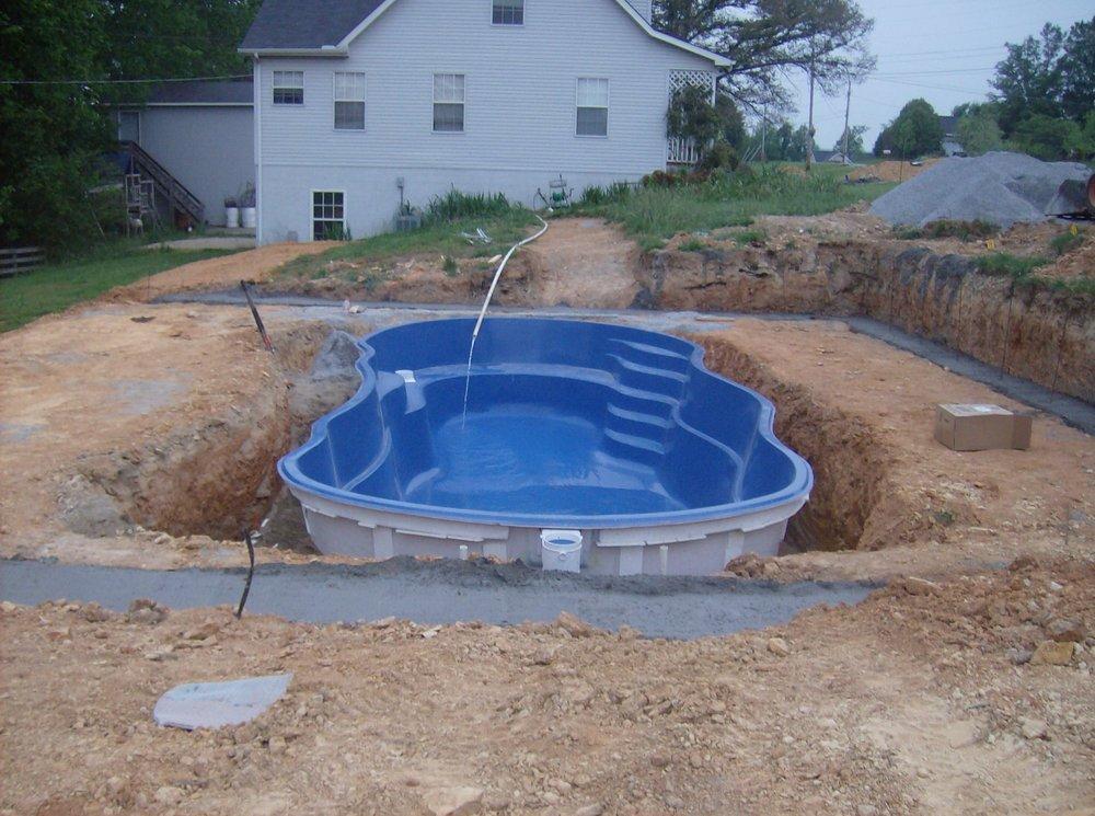 In-ground fiberglass pool