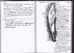 page from small sketch book