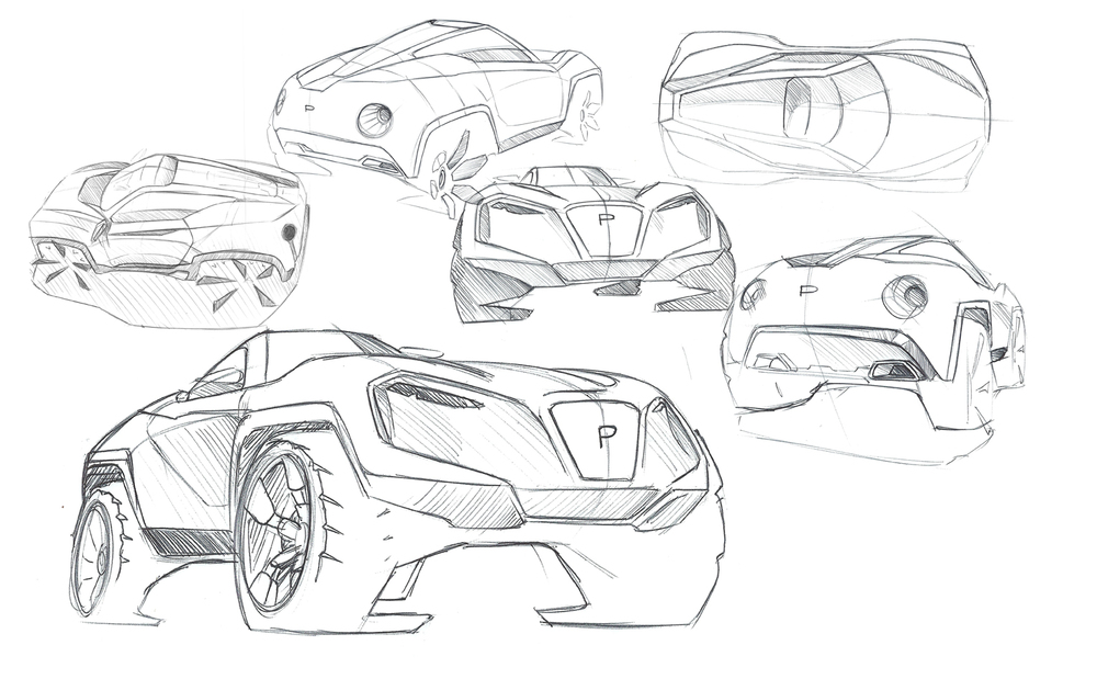 Josh Shercliff, Staffordshire University, Prodrive P3 Sketches, Low res.jpg