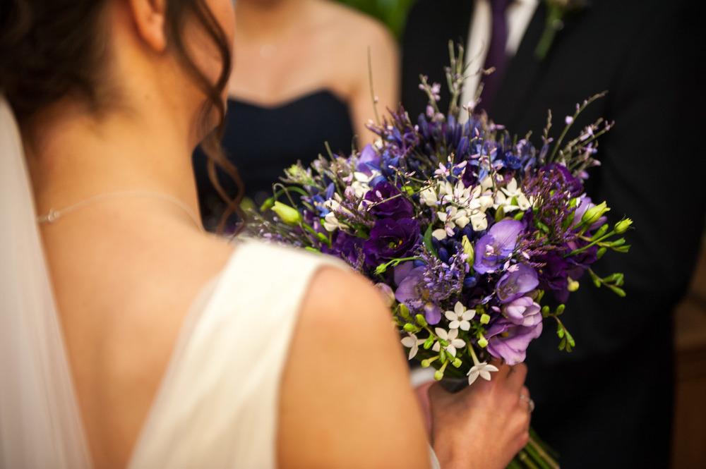 Bride at her Swancar Farm wedding