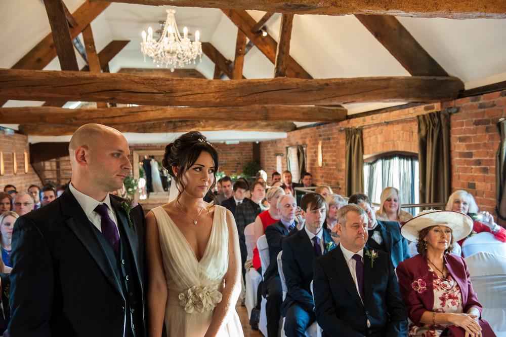 Wedding ceremony at Swancar Farm