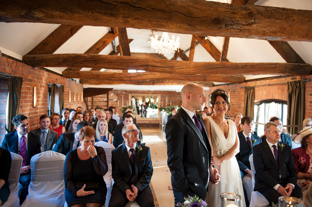 bride and groom get married at Swancar Farm
