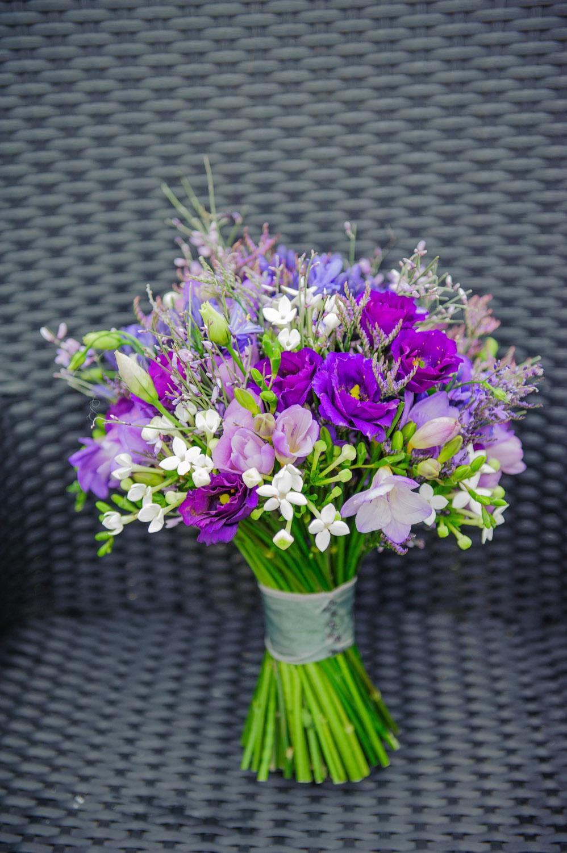 wedding bouquet at Swancar Farm