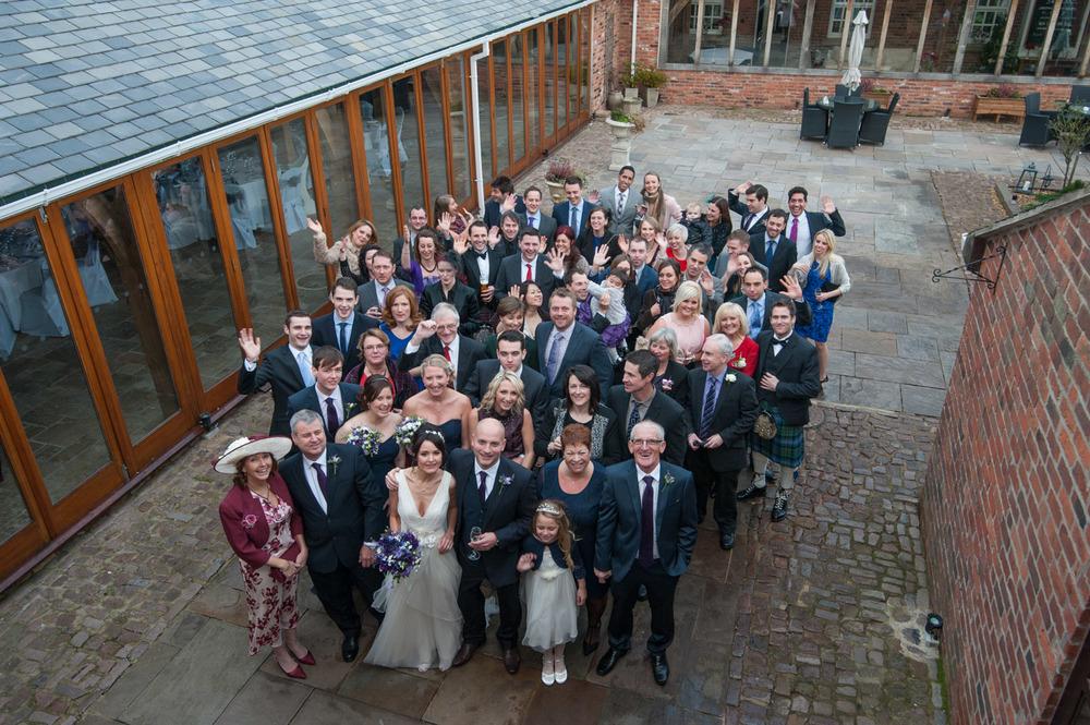 Group shot at Swancar Farm wedding