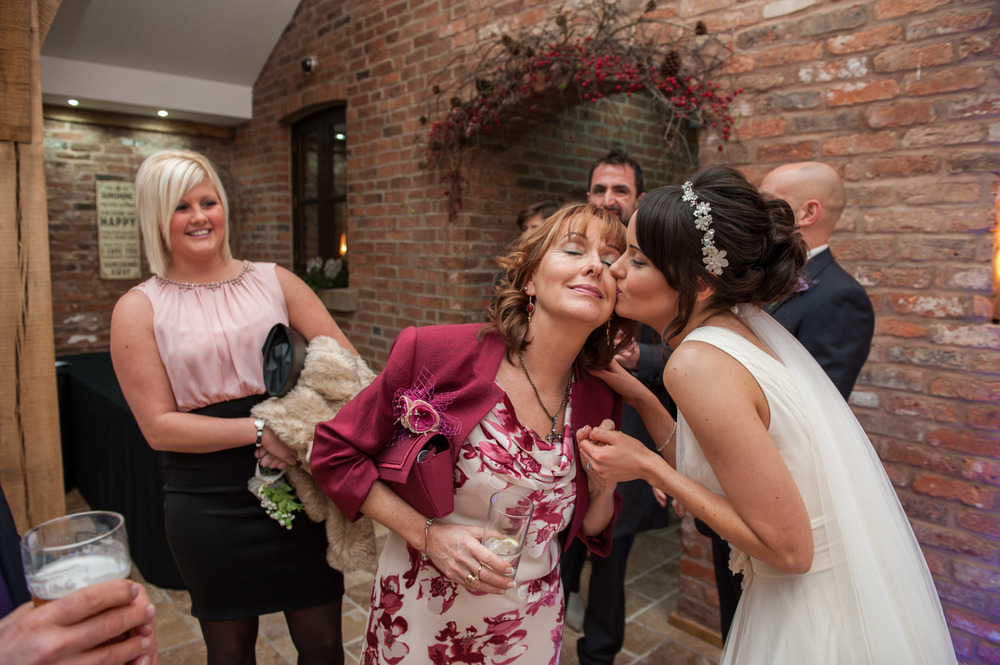 Bride and her mother at Swancar Farm wedding