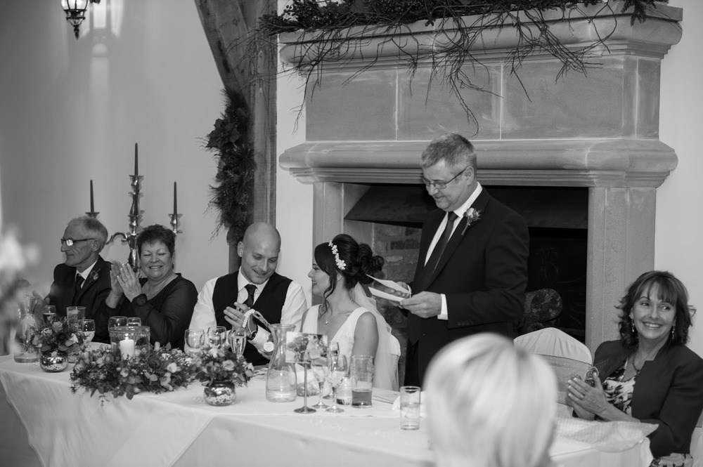 wedding speeches at Swancar Farm