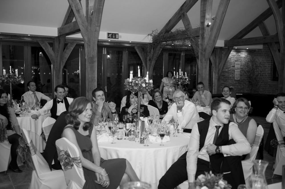 Speeches at Swancar Farm winter wedding