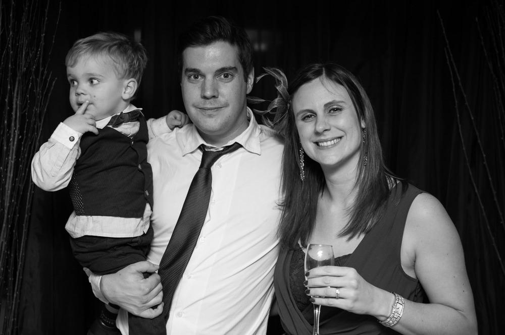 Family photograph at Swancar Farm wedding