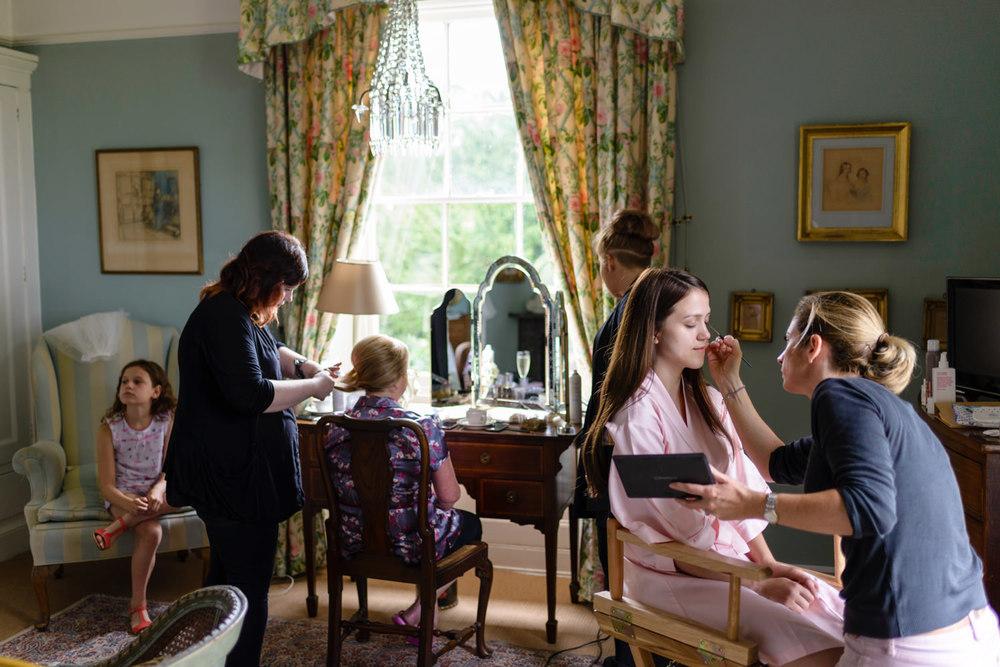 Bridal suite at Langar Hall