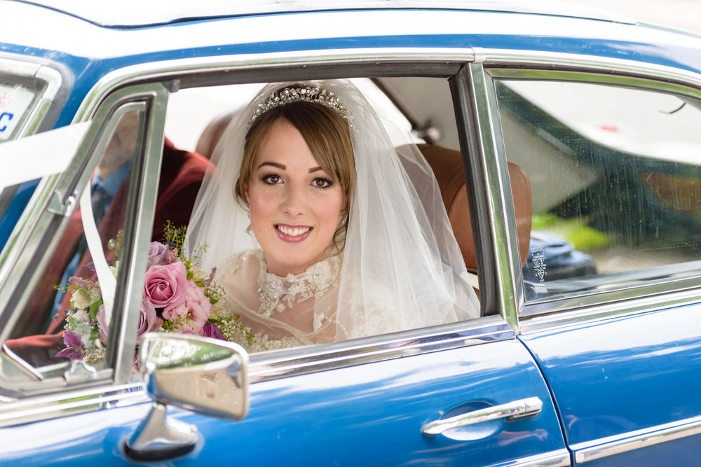 bride at Langar Hall Wedding