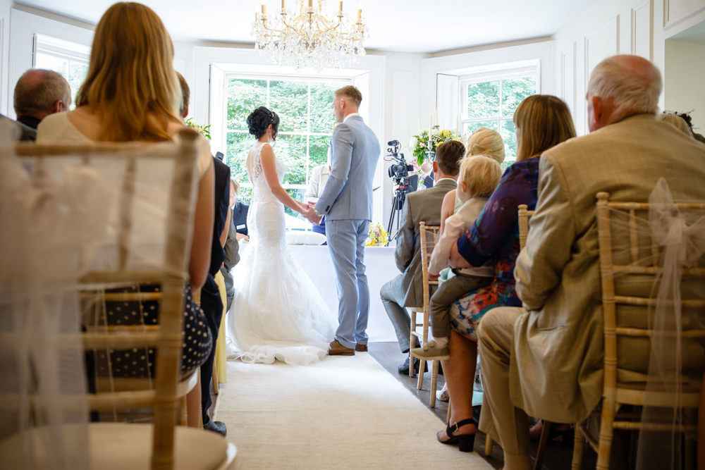 The Old Wedding ceremony at the Old Vicarage Boutique Hotel Wedding