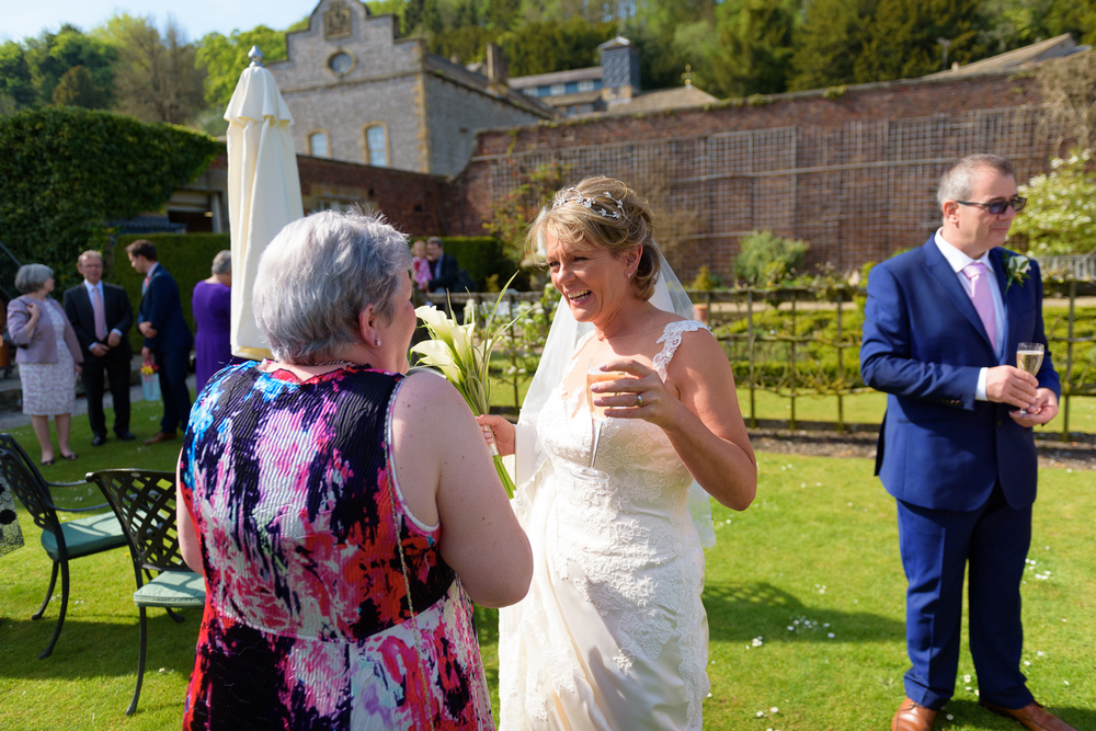 wedding day at hassop hall