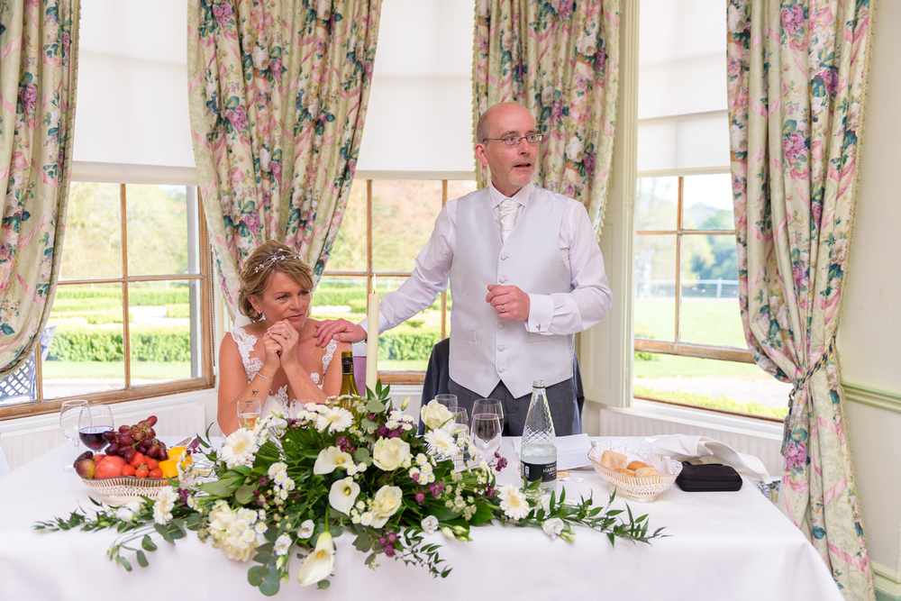 wedding speech at hassop hall