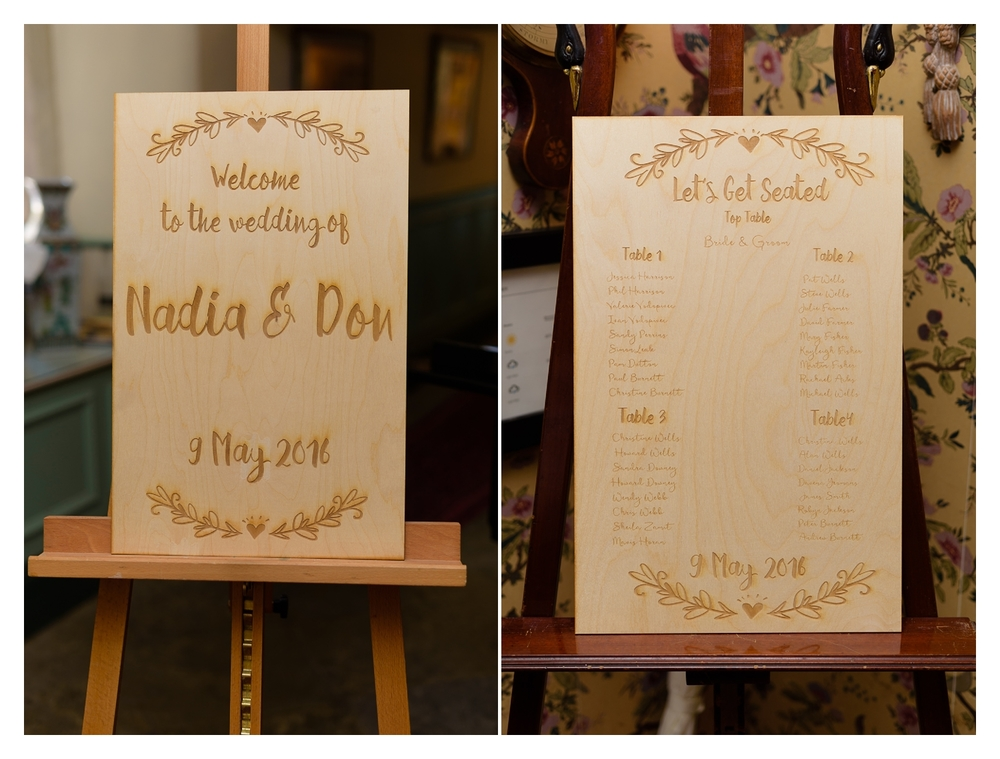 table plan at hassop hall wedding