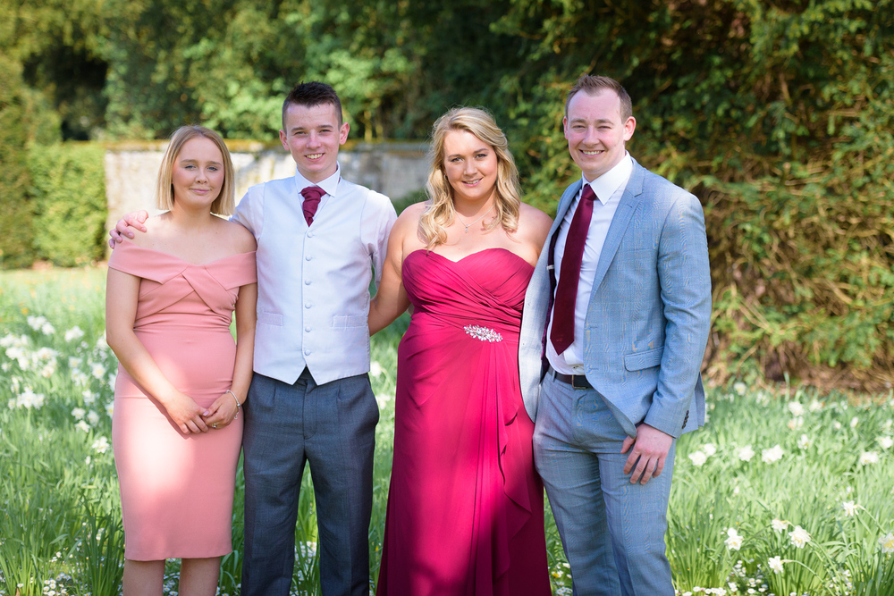 family photographs at hassop hall