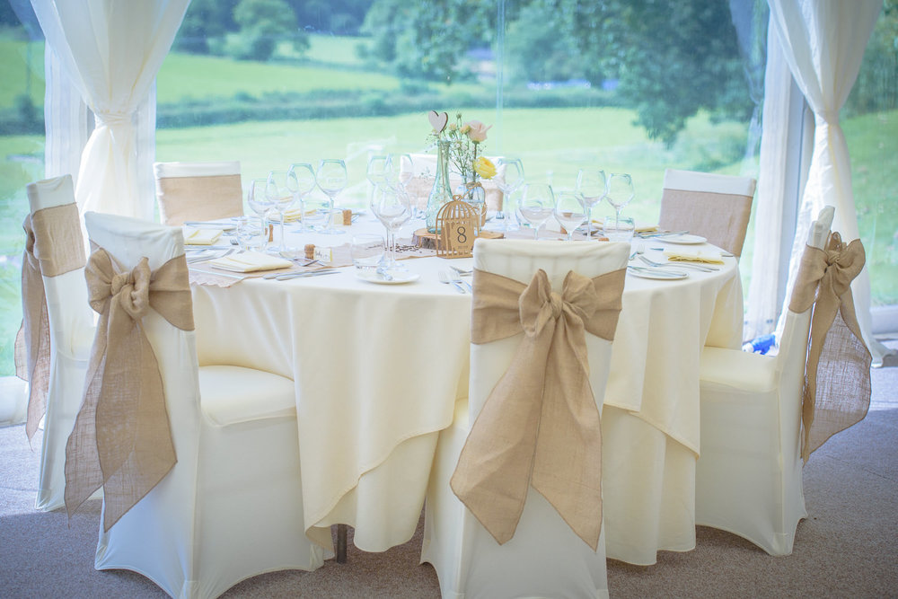 wedding marque at Callow Hall