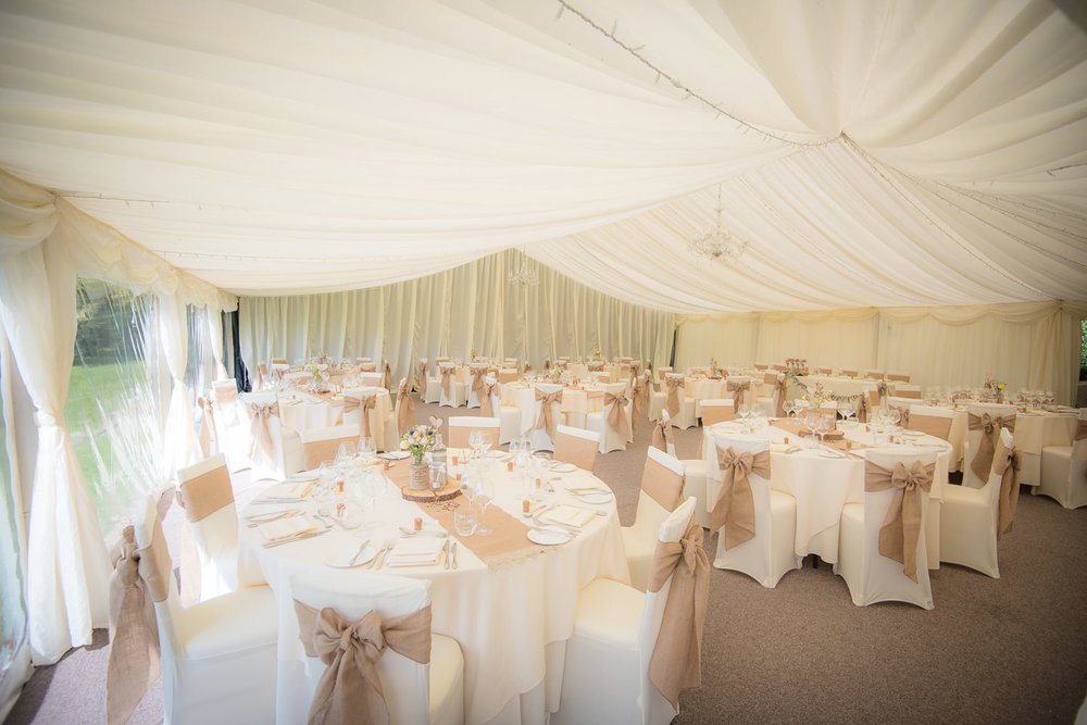 Callow Hall wedding marque