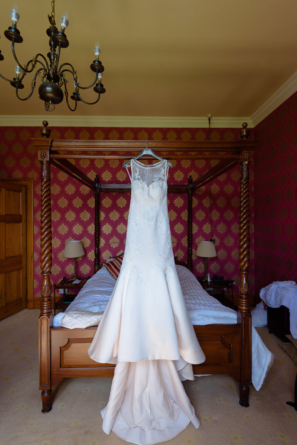 Bridal suite at Callow Hall wedding