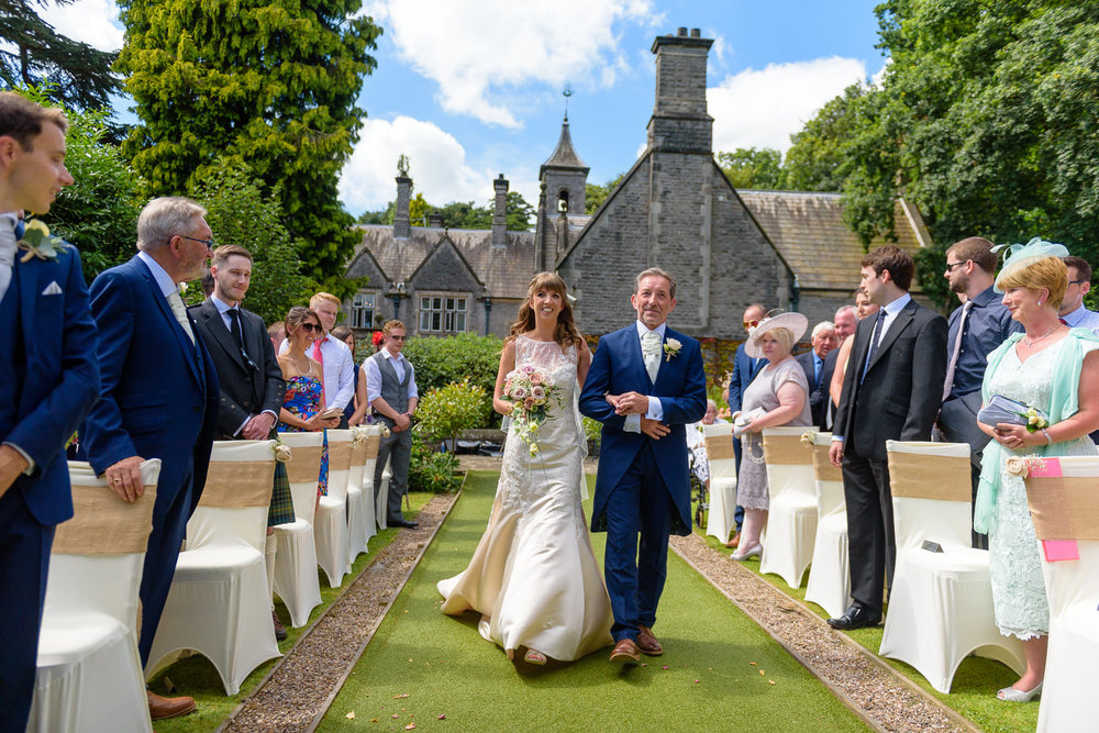 Callow Hall outdoor wedding ceremony
