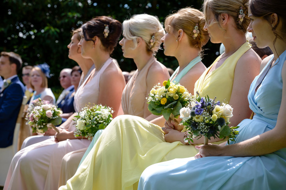 brides maids at Callow Hall wedding