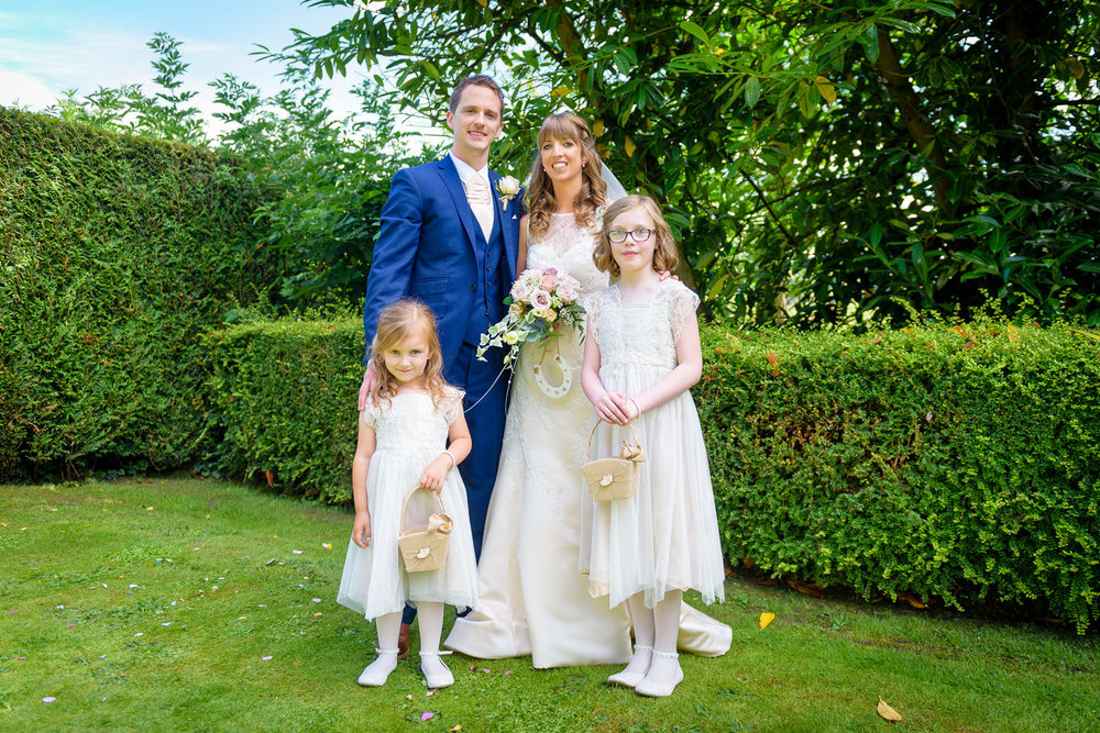 family photographs at Callow Hall wedding