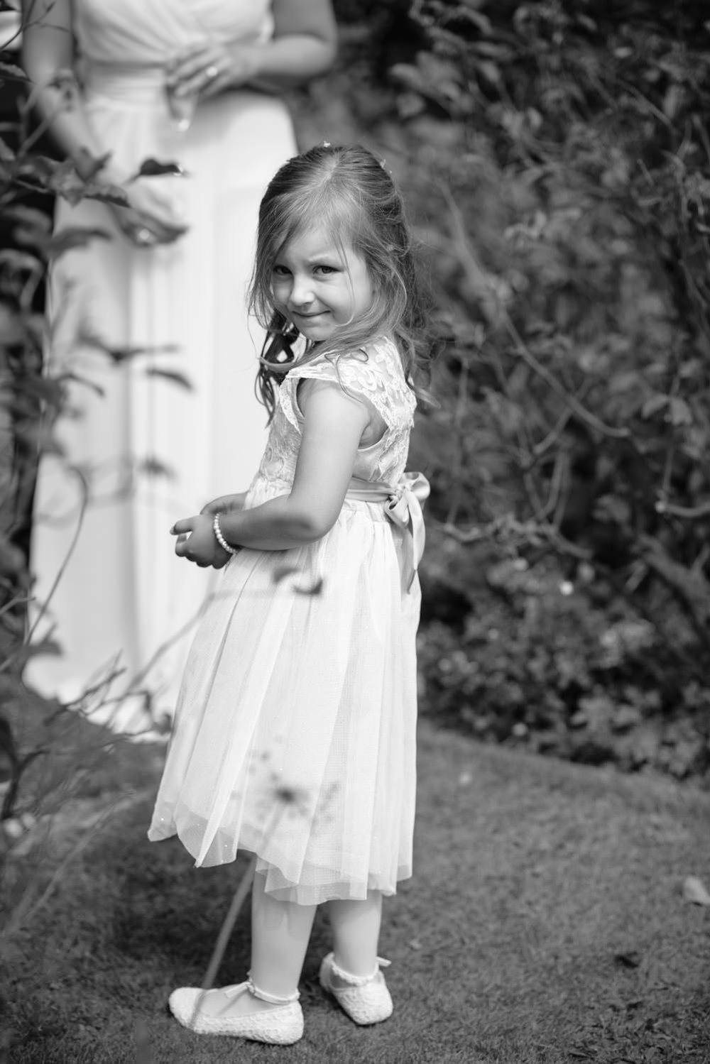 Flowergirl at Callow Hall wedding