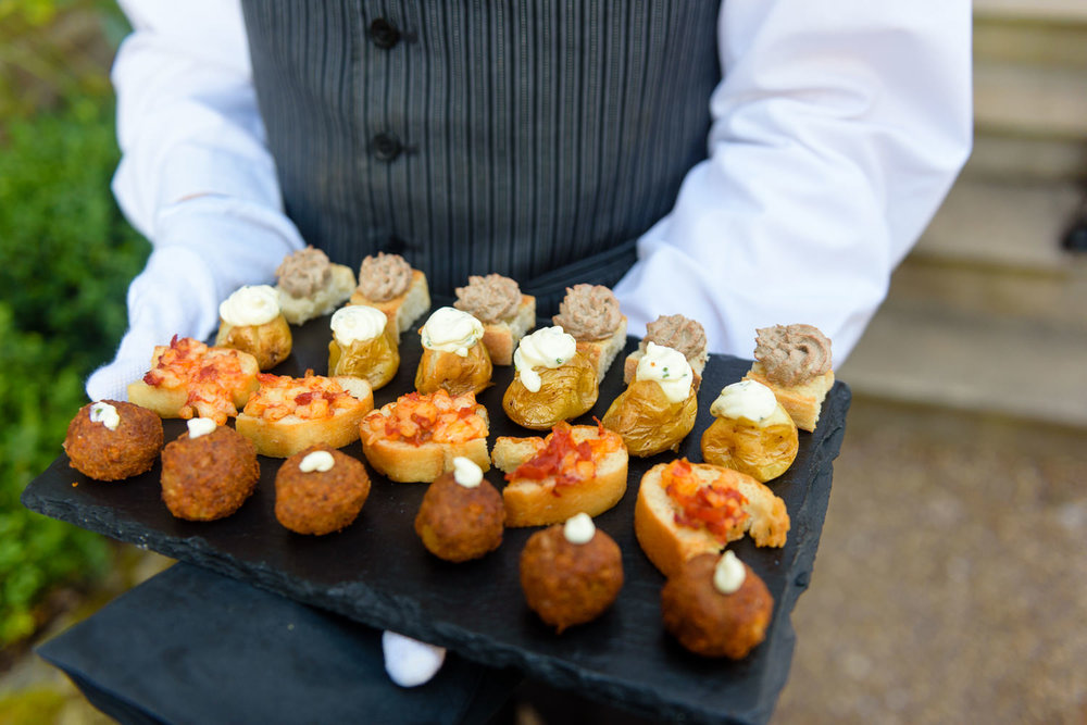 wedding food at Callow Hall wedding