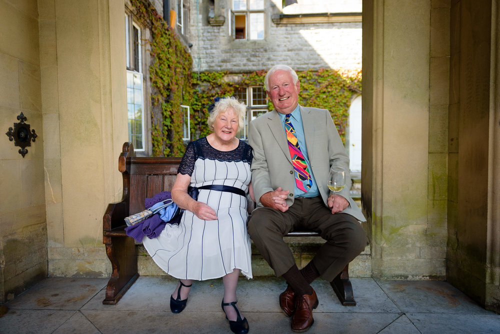 Grandparents at Callow Hall wedding