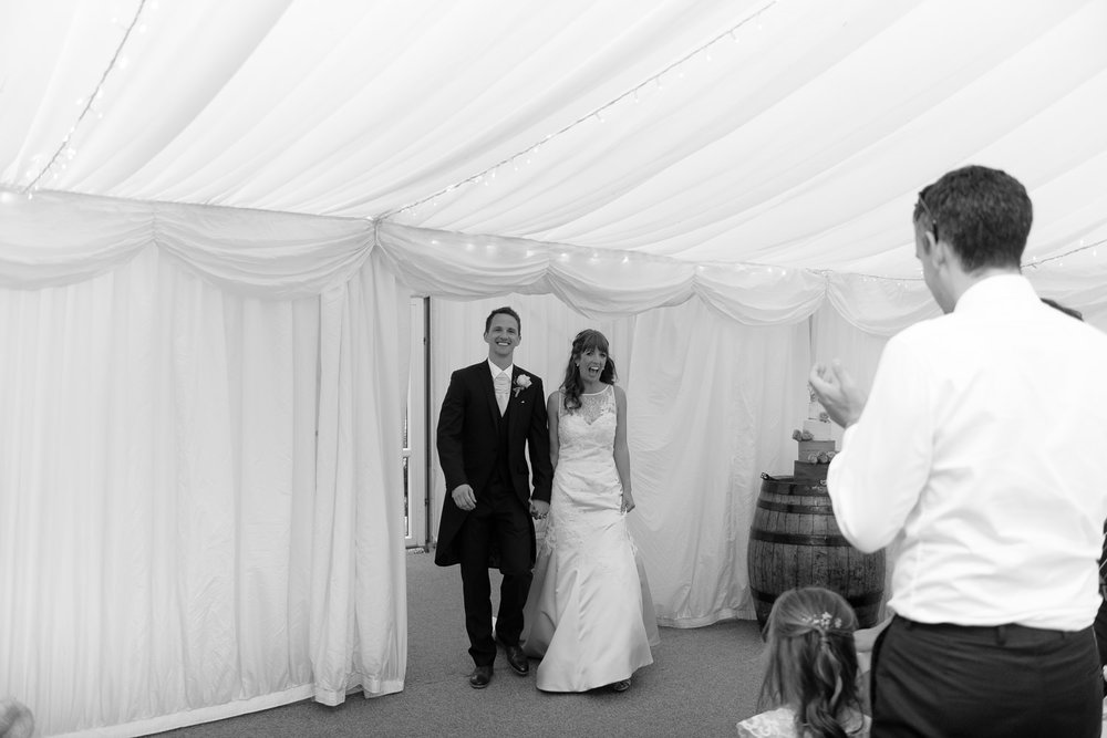 Bride and groom at Callow Hall wedding