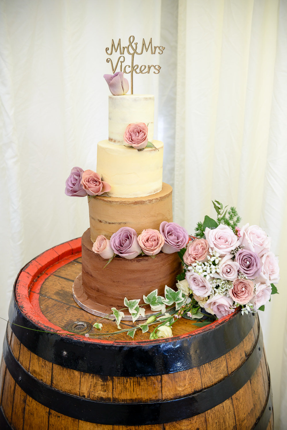 Wedding cake at Callow Hall