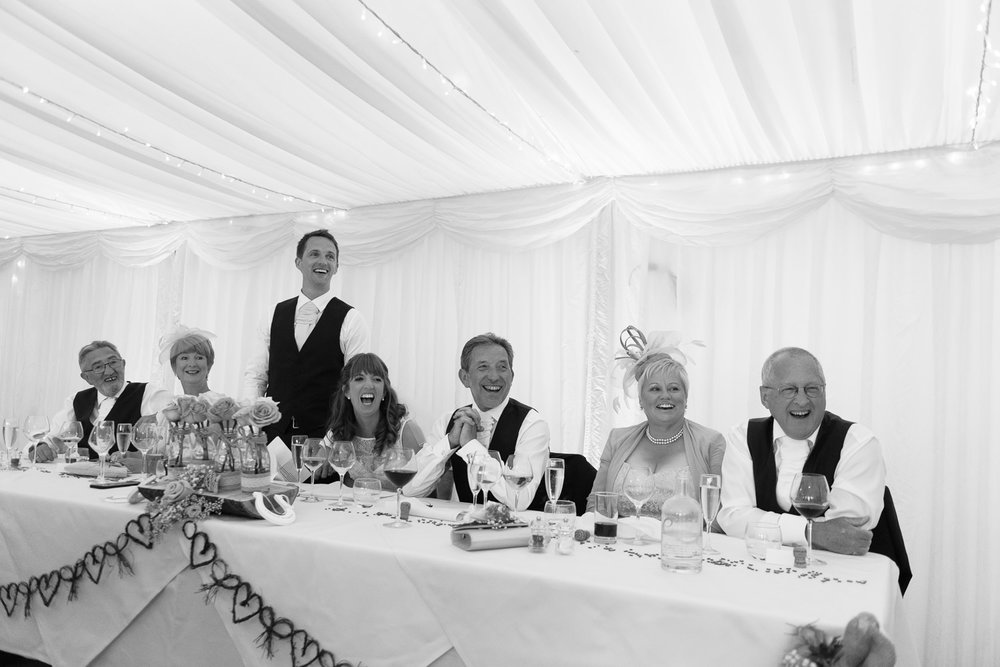 Grooms speech at Callow Hall wedding