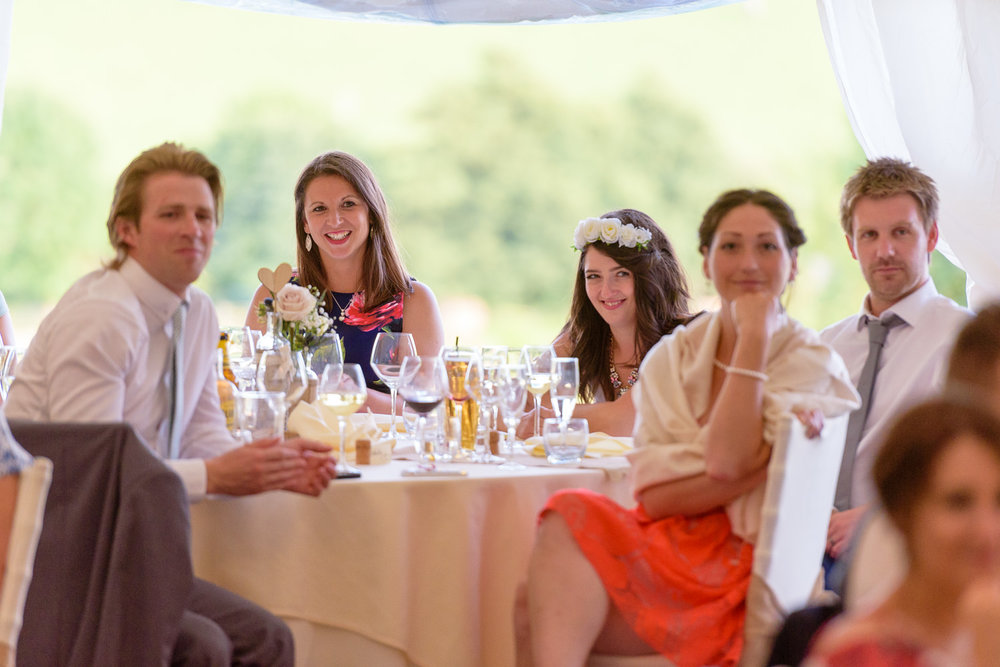 Wedding speeches at Callow Hall wedding