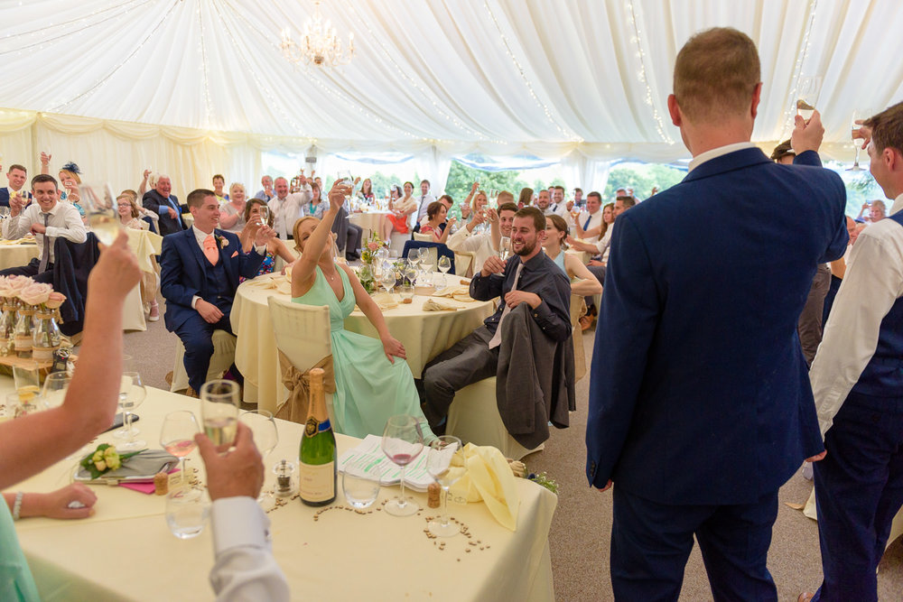 Best man speech at Callow Hall wedding